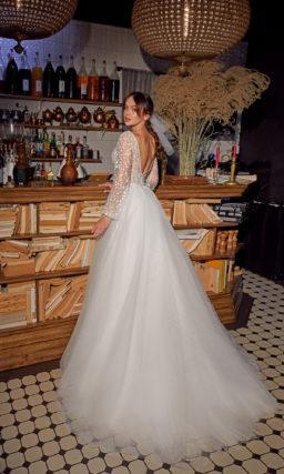 Свадебное платье с красивым рукавом