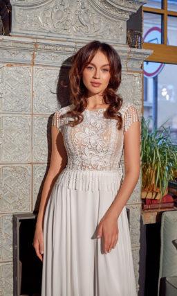 Прямое ампирное платье