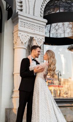 Свадебное платье крупной вязки