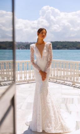 Платья русалка с длинными рукавами