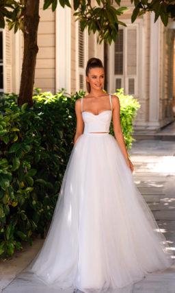 Свадебное платье-костюм с жакетом