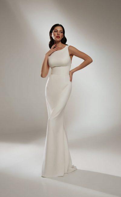 свадебное платье облегающего кроя русалка