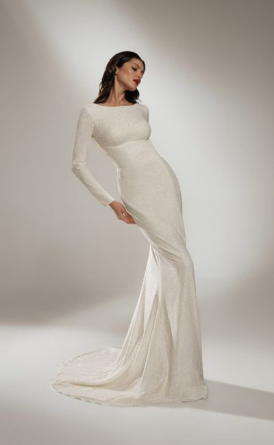 Фигурное свадебное платье русалка