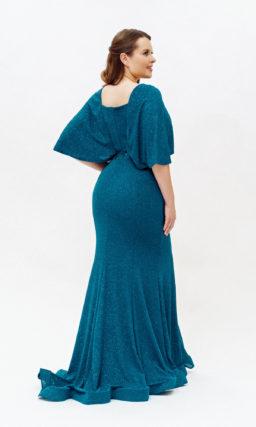 Синее платье русалка plus size