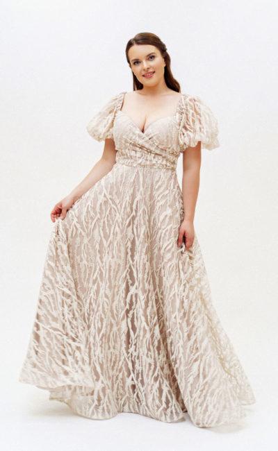 Красивое платье с рукавчиками