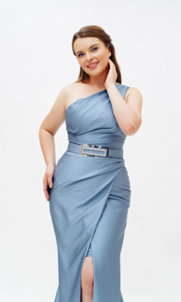 Голубое платье русалка plus size