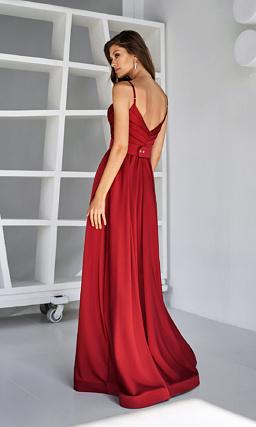 Красное платье для выпускного вечера