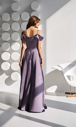 Лиловое платье в пол