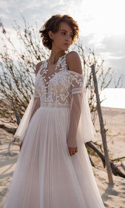 Свадебное платье с красивым верхом