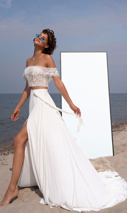 Свадебное платье кроп-топ